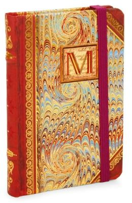 Marble Monogram M Bound Lined Mini Journal 3.5 X 5.25
