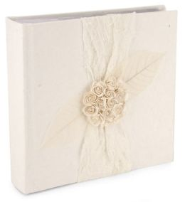 White Roses & Ribbon Paper Photo Album 200 4