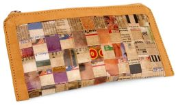 Recycled Woven Newspaper Pencil Pouch (8.5''x4''x.25'')