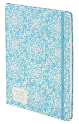 Turquoise Tiles Lined Journal (7