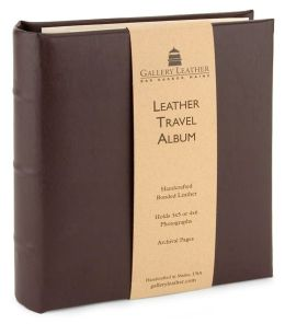Brown Leather Travel Photo Album