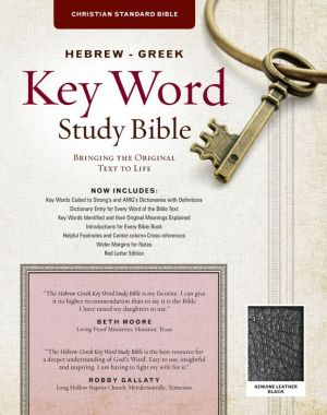 The Hebrew-Greek Key Word Study Bible: CSB Edition, Black Genuine