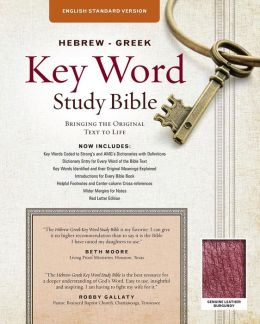 Hebrew-Greek Key Word Study Bible: English Standard Version, Genuine Burgundy Thumb-Indexed