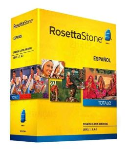 Rosetta Stone Spanish (Latin America) v4 TOTALe - Level 1, 2 & 3 Set - Learn Spanish