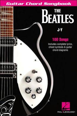 THE BEATLES GUITAR CHORD SONGBOOK J-Y (6X9) 100 SONGS