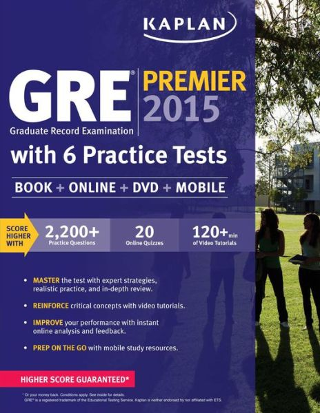 GRE Premier 2015 with 6 Practice Tests: Book + DVD + Online + Mobile