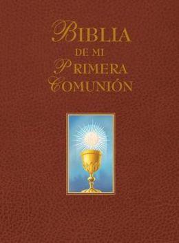 My First Communion Bible (Burgundy, Spanish)