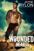 Book Cover Image. Title: Wounded Hearts, Author: Jayne Rylon