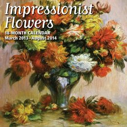 2014 18-Month Impressionist Flowers Wall