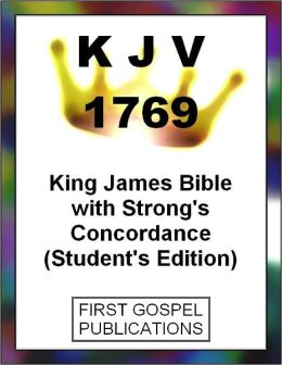 KJV 1769 King James Bible with Strong's Concordance (Student's Edition)