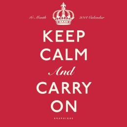 2014 Keep Calm and Carry On Mini Wall Calendar