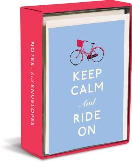 Keep Calm and Ride On Note Cards