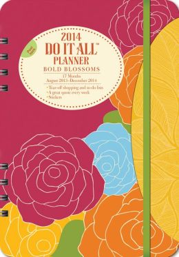 2014 Bold Blossoms Do It All Planner