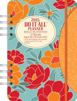 2015 Bold Blossoms Do It All Planner Calendar