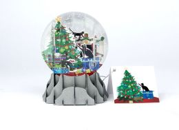 Holiday Cats Pop-Up Snow Globe Christmas Boxed Card