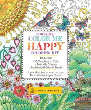 Portable Color Me Happy Coloring Kit: Includes Book
