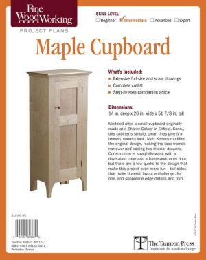 Fine Woodworking's Maple Cupboard Plan