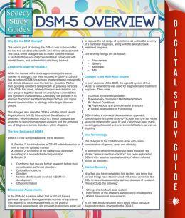 DSM-5 Overview (Speedy Study Guides) by Speedy Publishing LLC (English) Paperbac