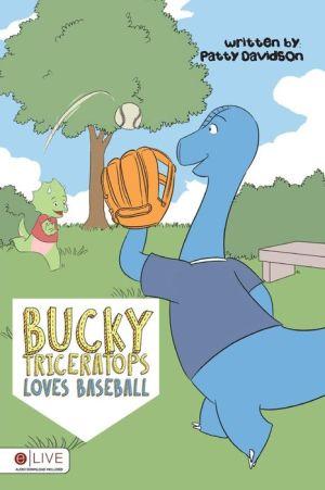 Bucky Triceratops Loves Baseball