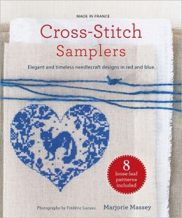 Cross-Stitch Samplers: Elegant and Timeless Needlecraft Designs in Red and Blue
