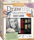 Book Cover Image. Title: Deluxe Drawing Kit, Author: Hinkler Books