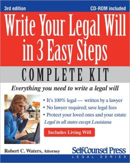 Write Your Legal Will in 3 Easy Steps: Everything You Need to Write a Legal Will