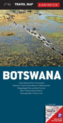 Botswana Travel Map, 7th