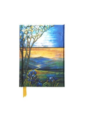 Tiffany Leaded Landscape with Magnolia Tree (Foiled Pocket Journal)