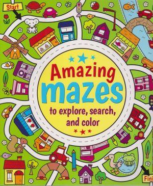 Amazing Mazes to Explore, Search & Color