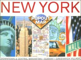 New York City, New York PopOut Map