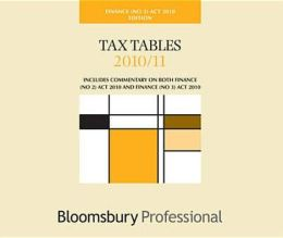 Tax Tables Finance ACT 2010