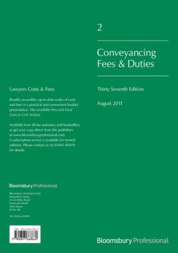 Lawyer's Costs and Fees: Conveyancing Fees and Duties: Thirty-Seventh Edition