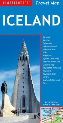 Iceland Travel Map, 6th