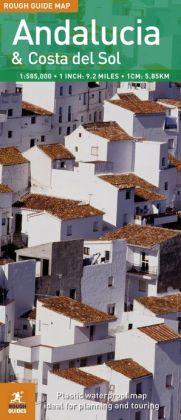 Rough Guide Map Andalucia & the Costa Del Sol