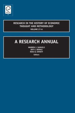 Research in the History of Economic Thought and Methodology: A Research Annual (Volume 27A)