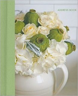 Jane Packer Lime & White Mini Address Book