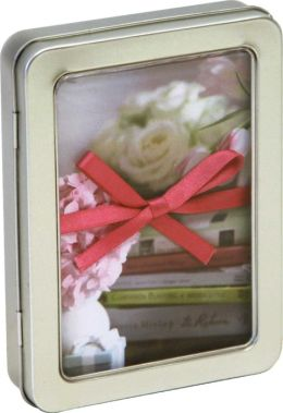 Pretty Pastel Flowers Tinned Notecards