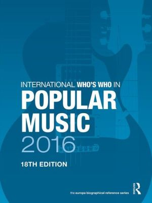 International Who's Who in Popular Music 2016