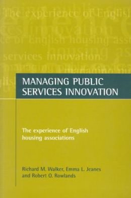Managing public services innovation