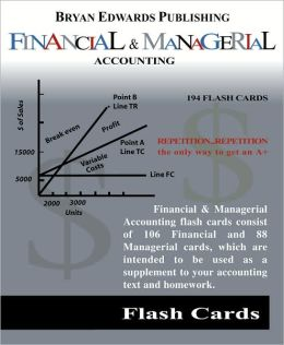 Introduction to Financial and Managerial Accounting Flash Cards