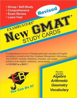 New GMAT: Exambusters Study Cards