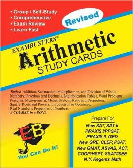 Arithmetic: Exambusters Study Cards