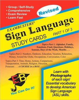 Sign Language 1 Of 3: Exambusters Study Cards