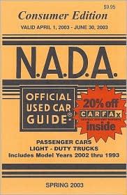 N.A.D.A. Official Used Car Guide: Consumer Edition