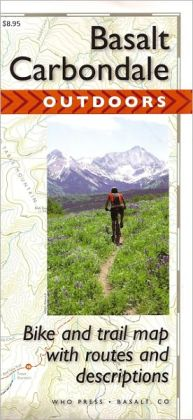 Basalt to Carbondale Outdoors Map: Bike and Trail Map with Routes and Descriptions