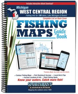 Michigan - West Central Fishing Map Guide