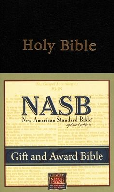 NASB Gift and Award Bible: New American Standard Bible Update, black imitation leather