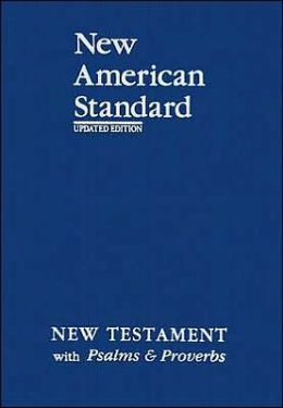 New Testament with Psalms and Proverbs: New American Standard Bible Update (NASB), blue imitation leather