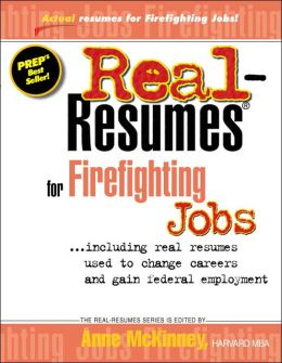Real-Resumes for Firefighting Jobs