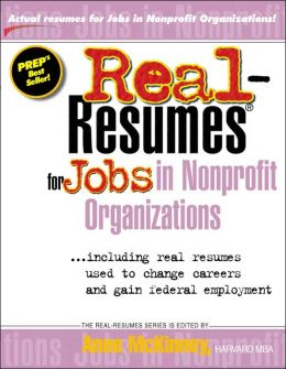 Real-Resumes for Jobs in Nonprofit Organizations